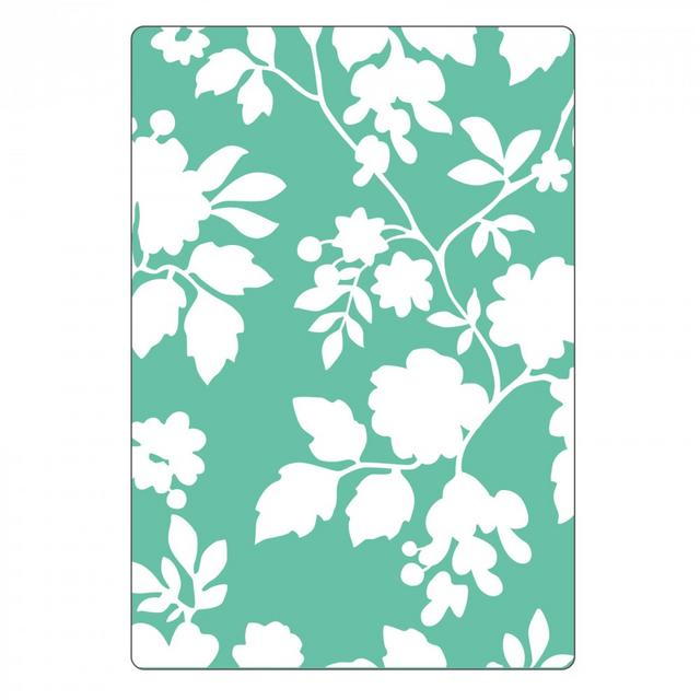 Sizzix Textured Impressions Embossing Folder - Rose Vines-661466