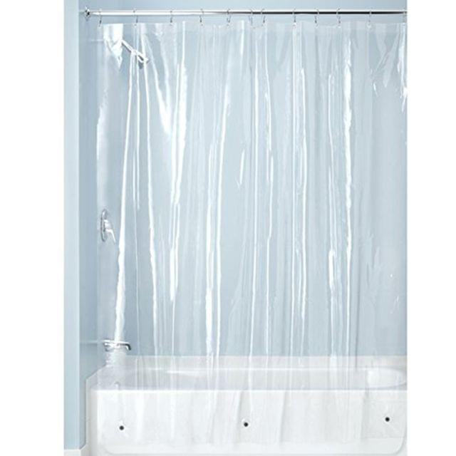 7 foot shower curtain. 0 30 MM Pvc AC Transparent Curtain  Shower Liner Rustproof Metal Grommets And Mildew