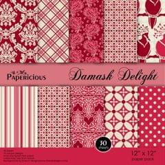 Papericious 12×12 Paper Pack- Damask Delight