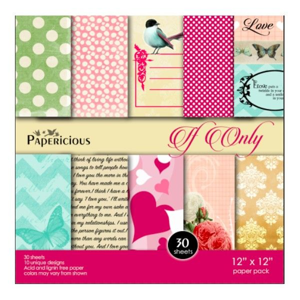 Papericious 12×12 Paper Pack- If Only