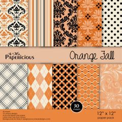 Papericious 12×12 Paper Pack-Orange Fall