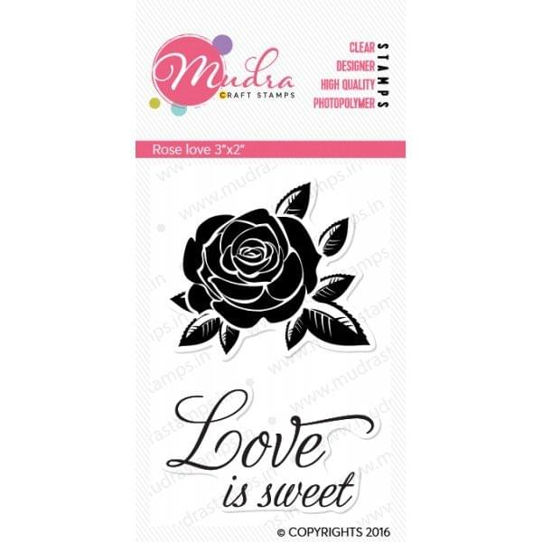 Mudra Clear Stamps - Rose love