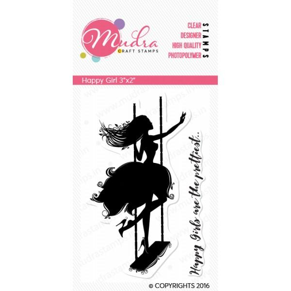Mudra Clear Stamps - Happy Girl