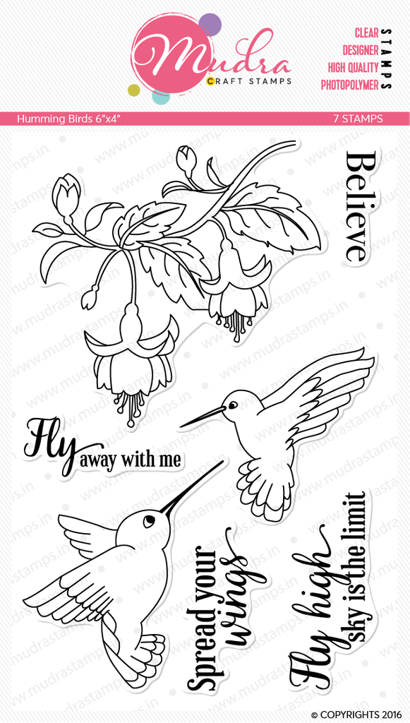 Mudra Clear Stamps - Humming Birds