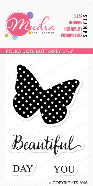 Mudra Clear Stamps -  Polka dot butterfly
