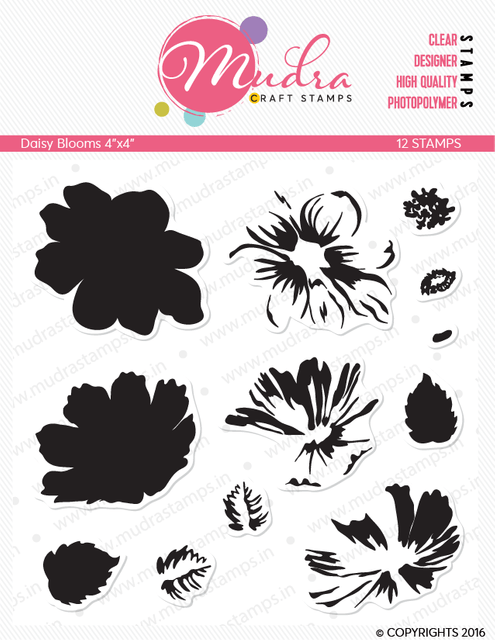 Mudra Clear Stamps - Daisy Blooms