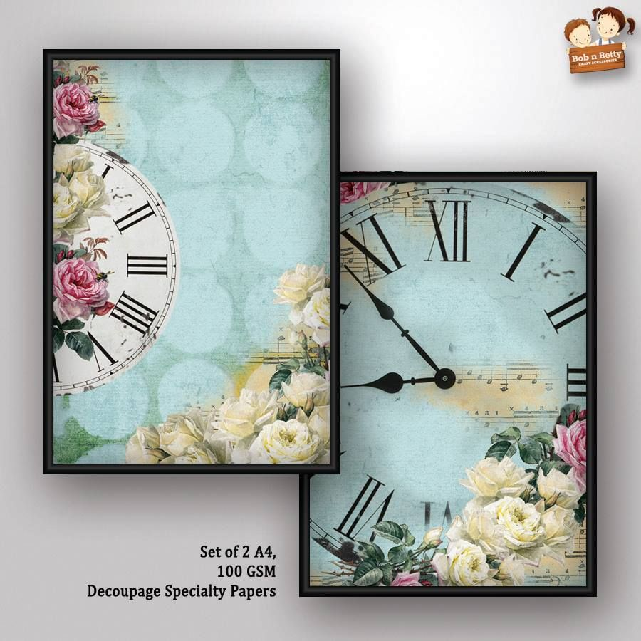 Decoupage Paper - shabby chic 4 (Pack of 5 sets)