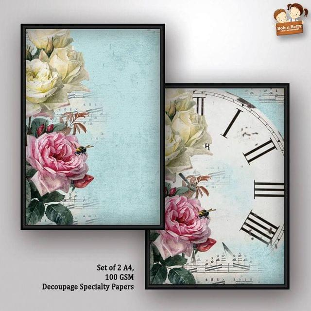 Decoupage Paper - shabby chic 6 (Pack of 5 sets)