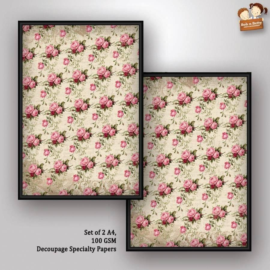 Decoupage Paper - shabby chic 11 (Pack of 5 sets)