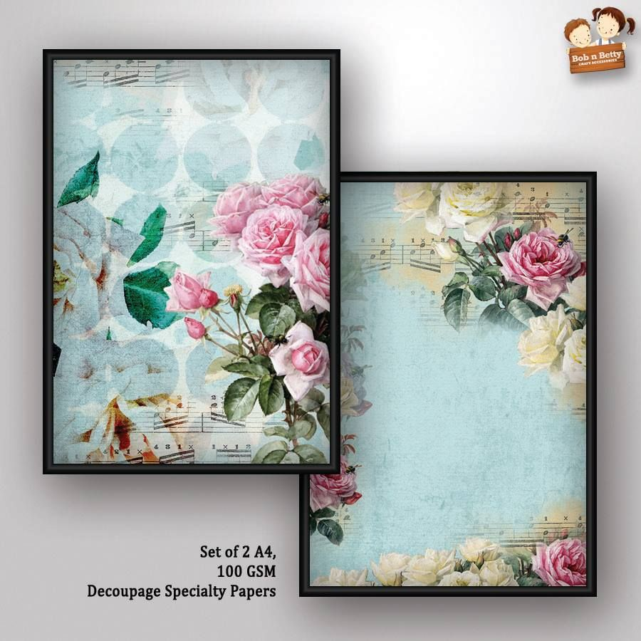Decoupage Paper - shabby chic 7 (Pack of 5 sets)