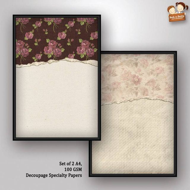 Decoupage Paper - shabby chic 8 (Pack of 5 sets)