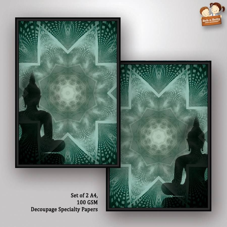 Decoupage Paper - Next to Silence 5- Buddha Series (Pack of 5 sets)