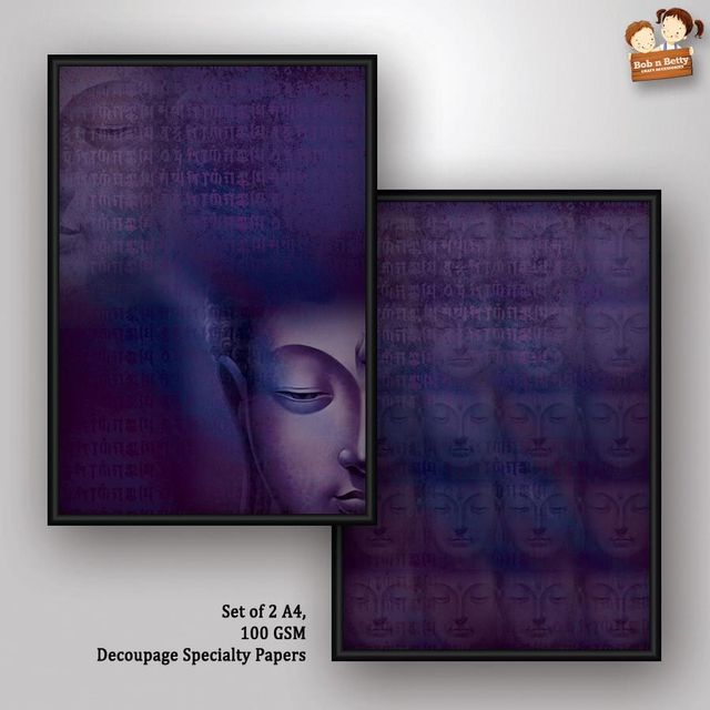 Decoupage Paper - Next to Silence 2- Buddha Series (Pack of 5 sets)