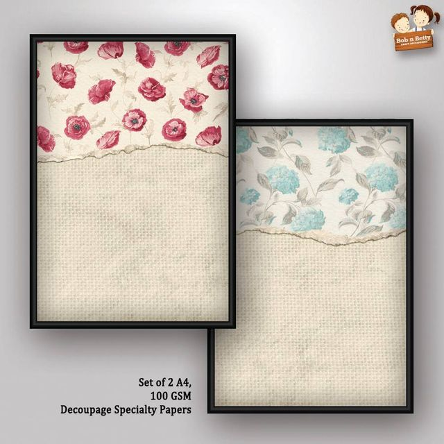 Decoupage Paper - shabby chic 9 (Pack of 5 sets)