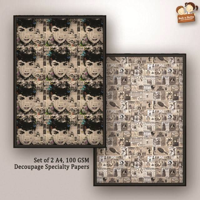 Decoupage Papers - Glam Up Craft 4 (Pack of 5 sets)