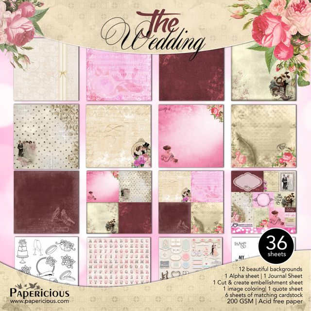 Papericious 12×12 Premium Paper Pack – The Wedding