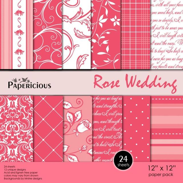 Papericious 12×12 Paper Pack – Rose Wedding
