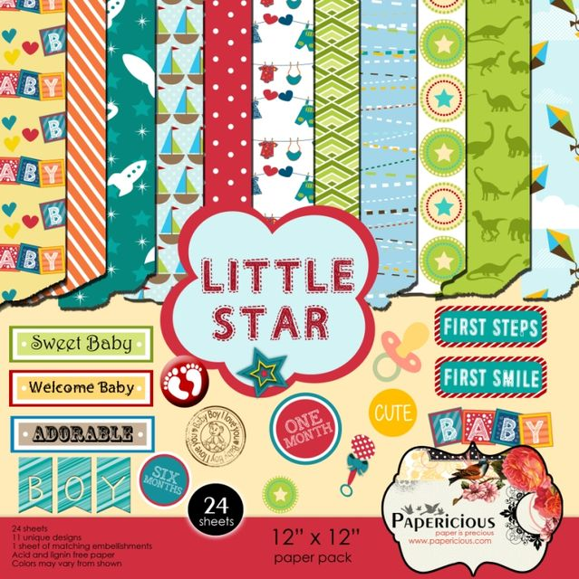 Papericious 12×12 Paper Pack – Little Star