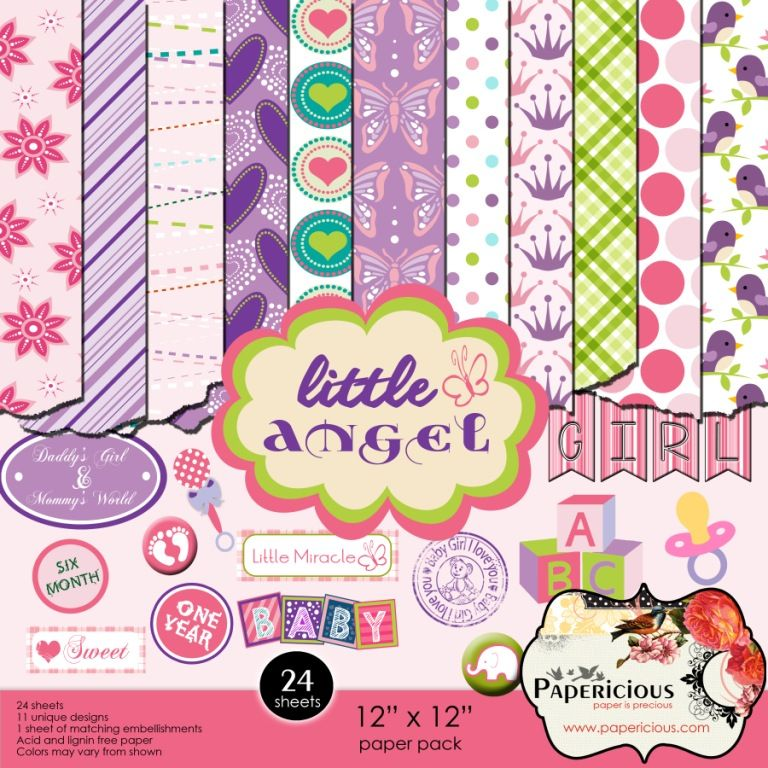 Papericious 12×12 Paper Pack – Little Angel