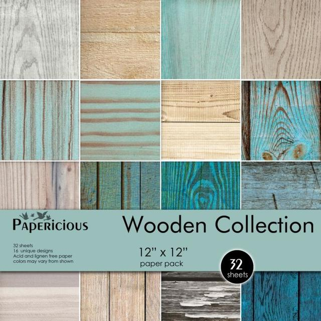 Papericious 12×12 Paper Pack – Wooden collection