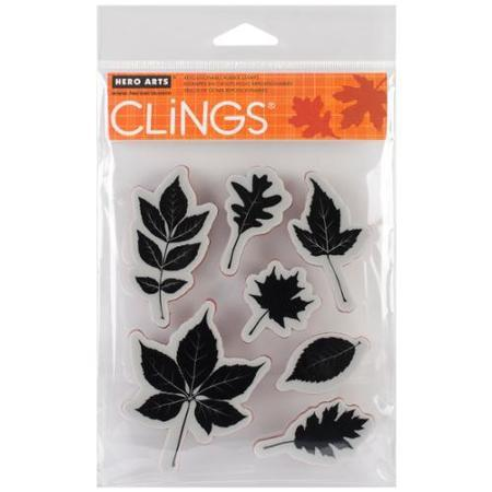 Hero Arts Cling Stamps - Scattering Leaves