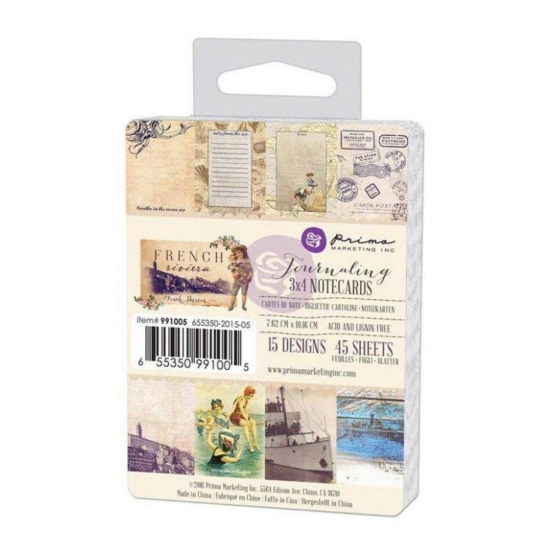 "Prima Marketing - French Riviera Journaling Cards 3""X4"""