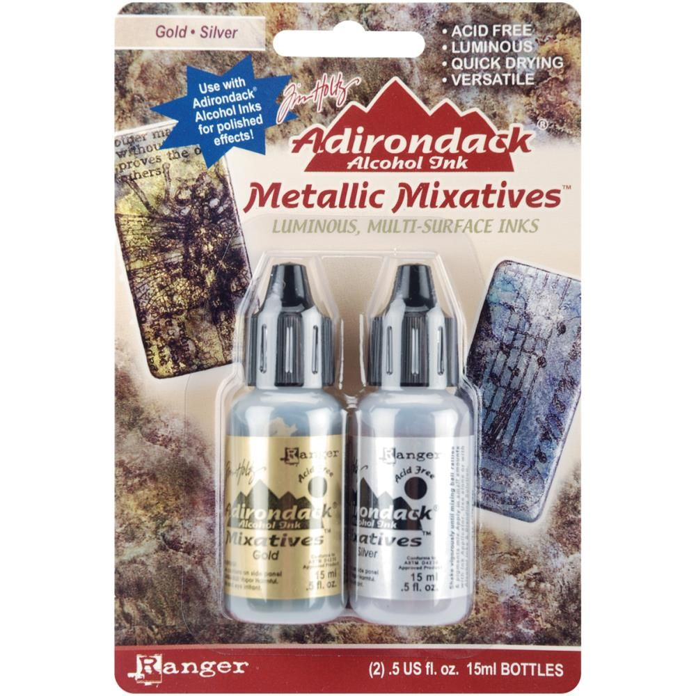 RANGER ADIRONDACK ALCOHOL INKS Gold & Silver