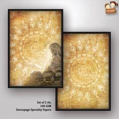 Decoupage Paper - Next to Silence 1- Buddha Series- (Pack of 1 set)