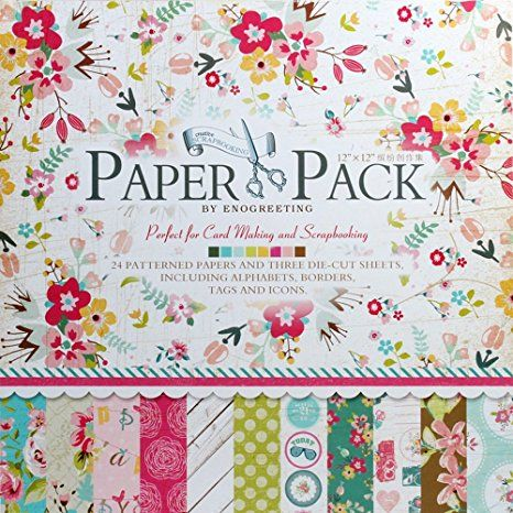 Enogreeting Patterned Paper - Sweet  - 12 by 12