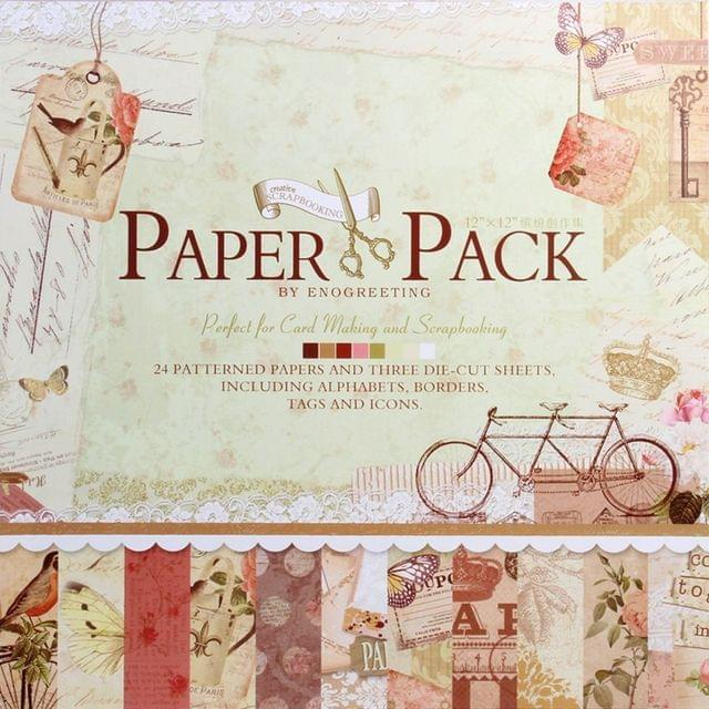 Enogreeting Patterned Paper - Afternoon 12 by 12
