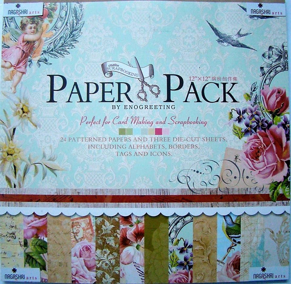 Enogreeting Patterned Paper - Blossom 12 by12