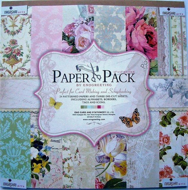 Enogreeting Patterned Paper - Floral 12 by 12