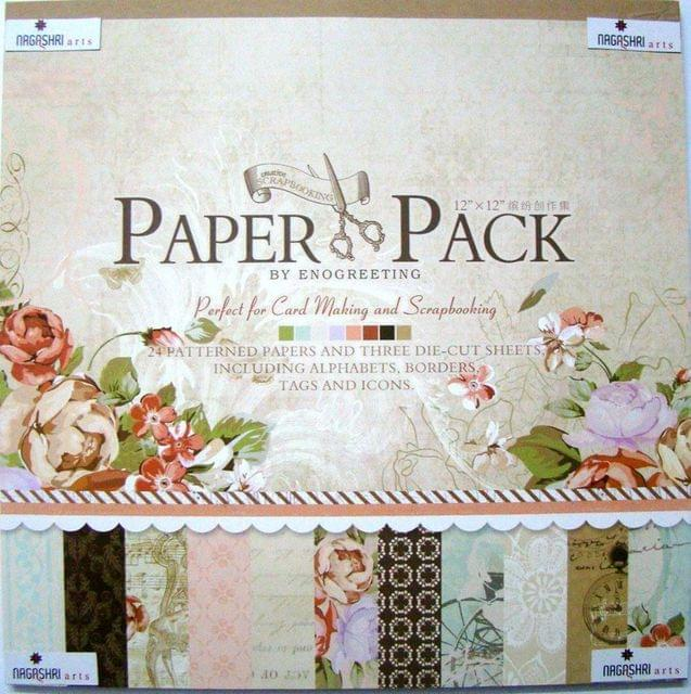 Enogreeting Patterned Paper - Romantic 12 by 12
