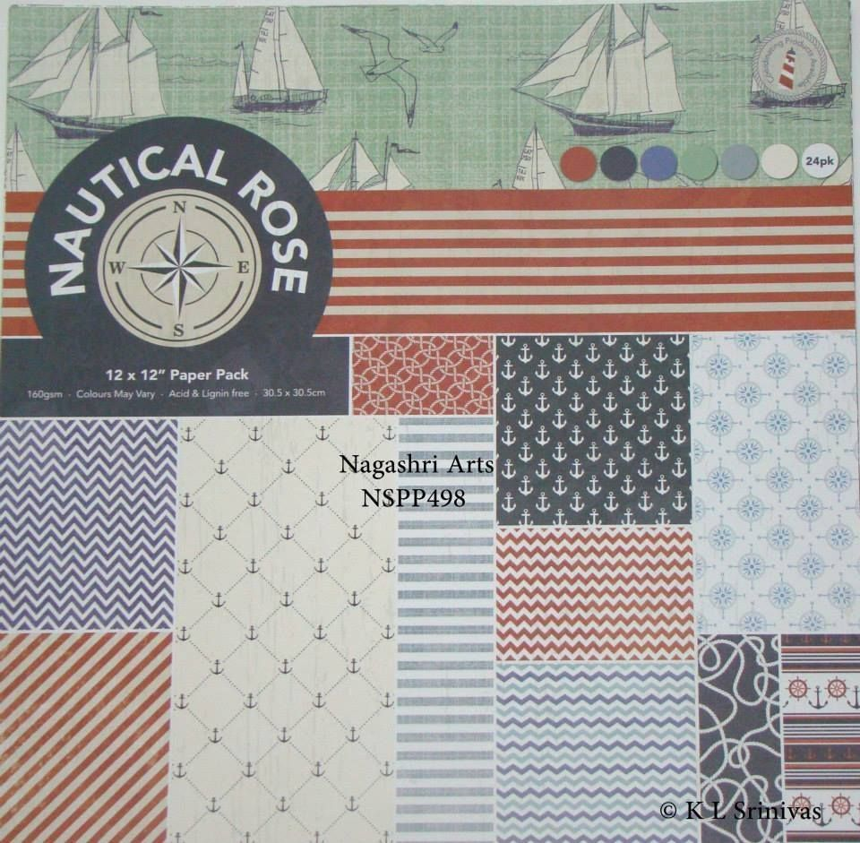 Nautical Rose Paper Pack