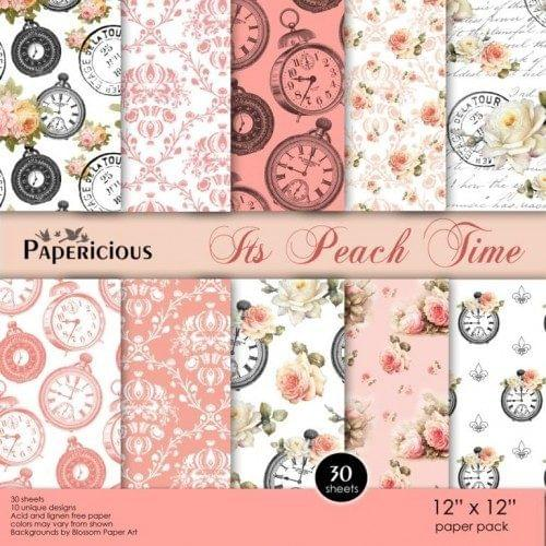 Papericious Premium Edition Paper Pack 12x12 - Its Peach Time