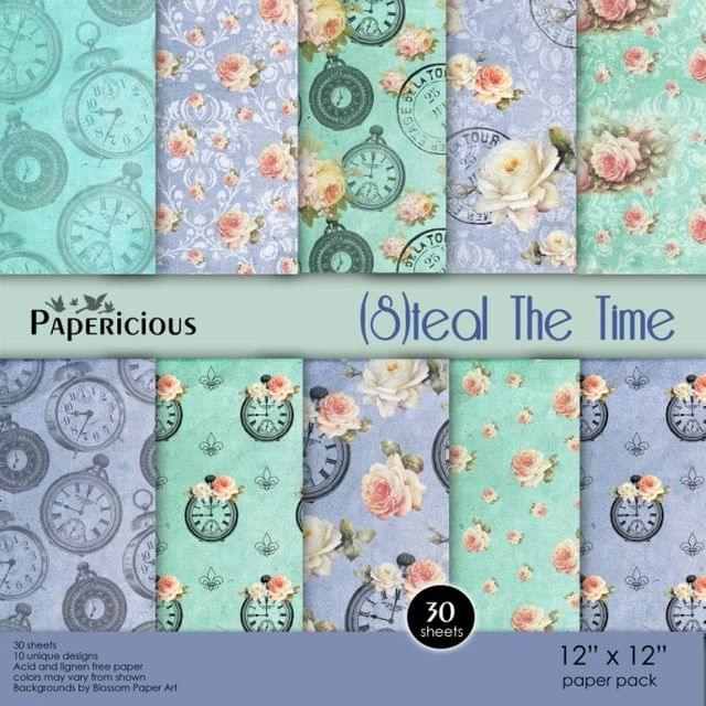 Papericious Premium Edition Paper Pack 12x12 - Steal The Time