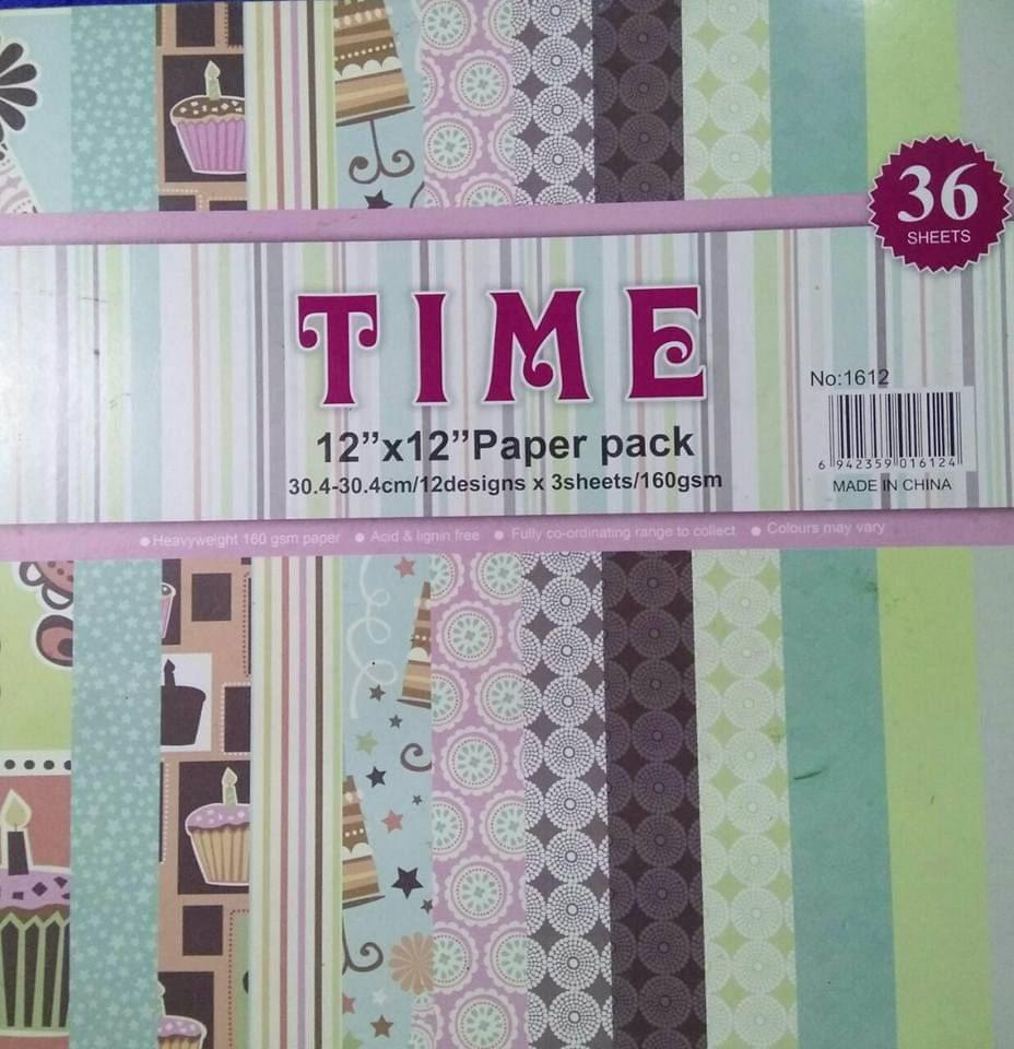 Time Pattern Paper - Design 6