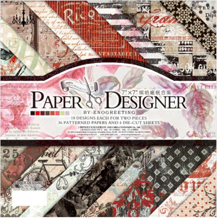 Enogreeting Pattern Paper - Retro Series
