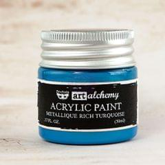 Art Alchemy-Acrylic Paint-Metallique Rich Turquoise 1.7oz