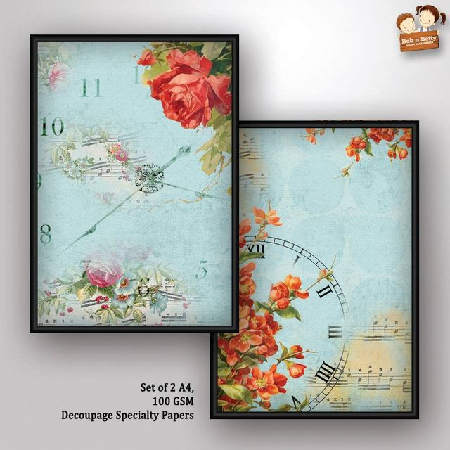 Decoupage Paper - shabby chic 2 (Pack of 1 set)