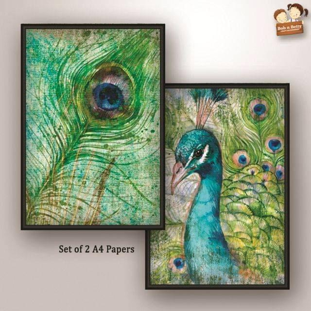 Decoupage Paper - Peacock 1 (Pack of 1 set)