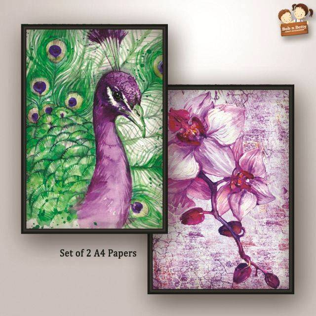 Decoupage Paper - Peacock 2 (Pack of 1 set)