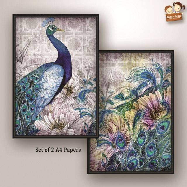 Decoupage Paper - Peacock 3 (Pack of 1 set)