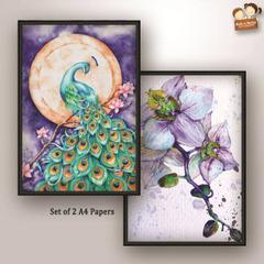 Decoupage Paper - Peacock 4  (Pack of 1 set)