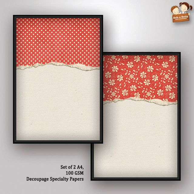 Decoupage Paper - shabby chic 10 (Pack of 5 sets)