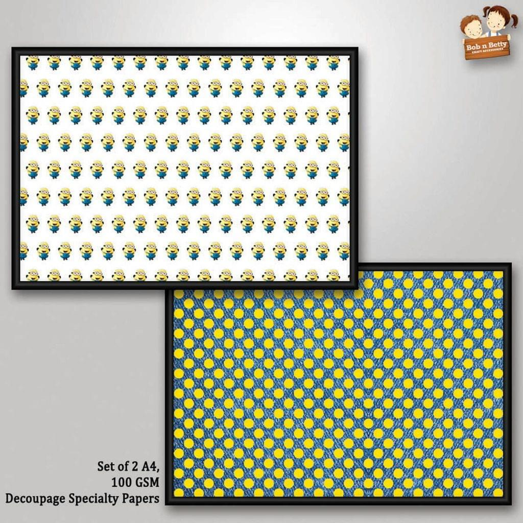 Decoupage Paper - Minion 2 (Pack of 1 set)