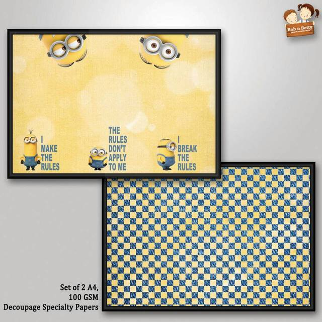 Decoupage Paper - Minions 3 (Pack of 1 set)