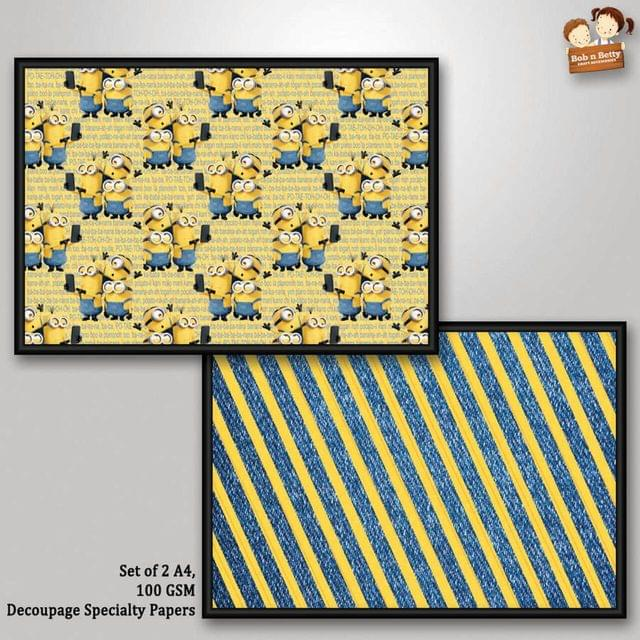 Decoupage Paper - Minions 5  (Pack of 1 set)