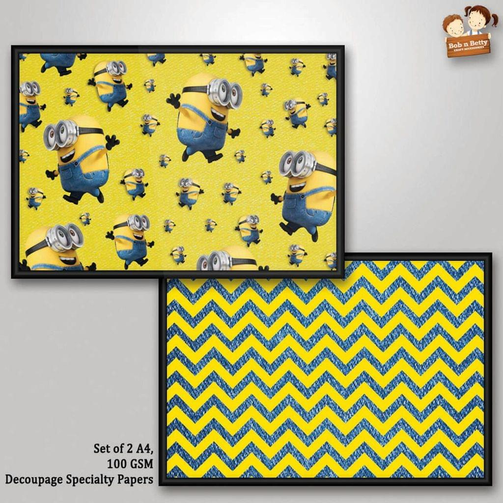Decoupage Paper - Minions 6  (Pack of 1 set)