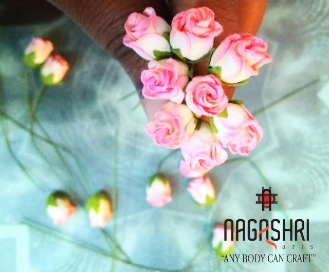 Tiny Rose Buds - Pink Color